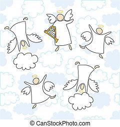 天使, 遊び, ダンス