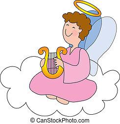 天使, 雲