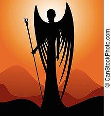 天使, 黑色半面畫像