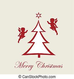 天使, yea, ボール, 新しい, クリスマス, 幸せ