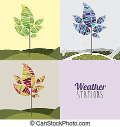 天候, デザイン