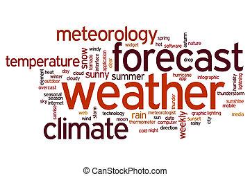 天候, 単語, 雲, 予報