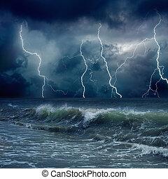 天候, 嵐である