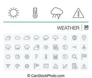 天候, meteo, ベクトル, アイコン