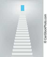 天国, ドア, 階段