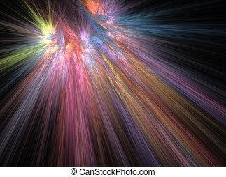 天国, ライト, 抽象的, 効果, 光輝, 神, フラクタル, backgrou