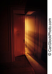 天堂般, 光, 後面, 光線, 門