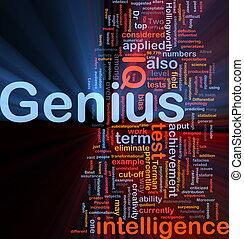 天才, 白熱, 概念, 背景, 知性