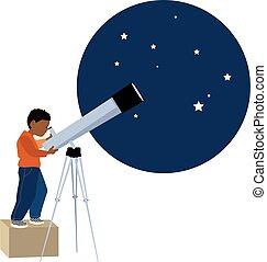 天文学者, 若い