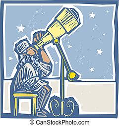 天文學家, 夜晚