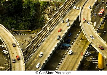 天橋, 高速公路