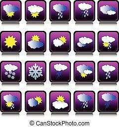 天气预报, 收集, 图标