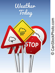 天氣, 圖象, 上, 路標