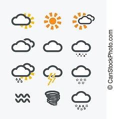 天氣, 集合, 預報, 圖象
