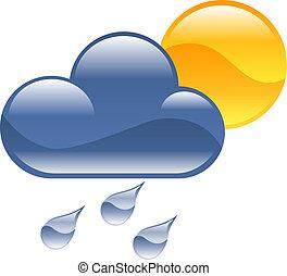 天氣, clipart, 插圖, 圖象