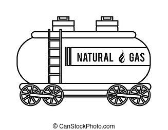 天然ガス, トラック, アイコン