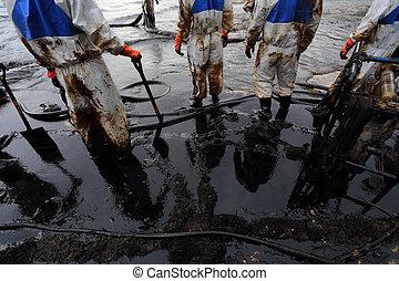 天然, 瑕疵, 油, 向上, 打掃