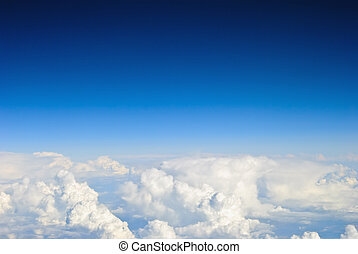 天空, 云霧, 背景