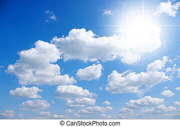 天空, 以及, 太陽