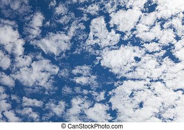 天空, 以及, 雲