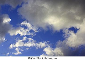 天空, 戲劇性, 云霧