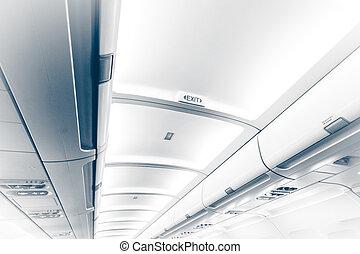 天花板, 出口, 飛機, 長, 簽署
