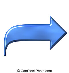 天藍色, 箭, 3d