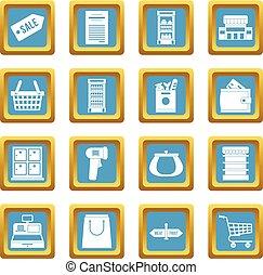 天藍色, 超級市場, 圖象