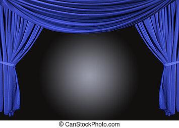 天鵝絨, 劇院, 雅致, 老 被塑造, curtains., 階段
