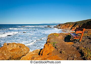 太平洋沿岸, カリフォルニア, アメリカ, 海洋