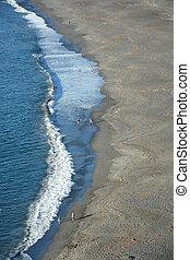 太平洋, shore., アメリカ, ca