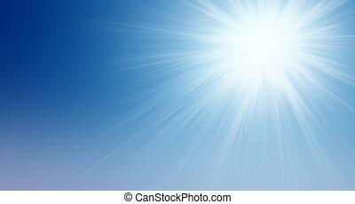 太阳, 在中, the, 天空