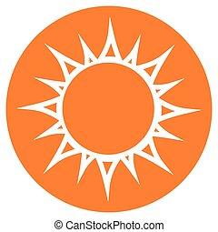 太阳, 环绕, 概念, 图标