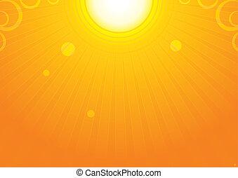 太陽の背景