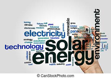 太陽エネルギー, 単語, 雲, 概念