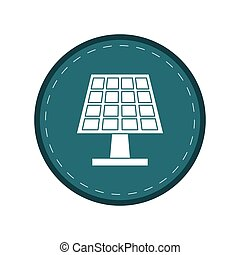 太陽エネルギー, 生態学的, 緑, きれいにしなさい, 円, パネル