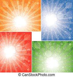 太陽光線, 背景, コレクション