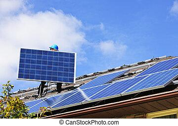 太陽面板, 安裝