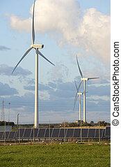 太陽, そして, 風エネルギー