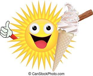 太陽, アイスクリーム