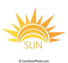 太陽, シンボル, ベクトル