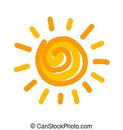太陽, シンボル, 図画