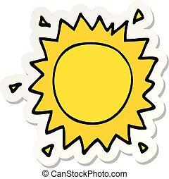 太陽, ステッカー, 漫画