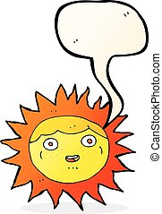 太陽, スピーチ泡, 漫画, 特徴