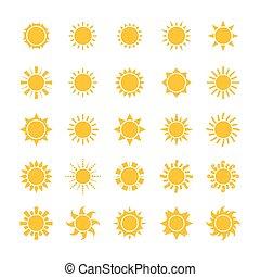 太陽 セット, アイコン