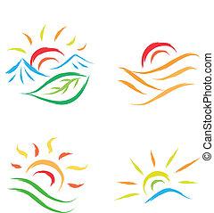 太陽 セット, ロゴ