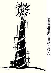 太陽, タワー