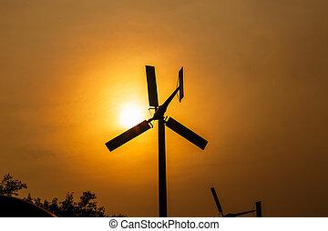 太陽, タービン, 風