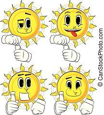 太陽, チューブ, paste., 漫画, ブランク