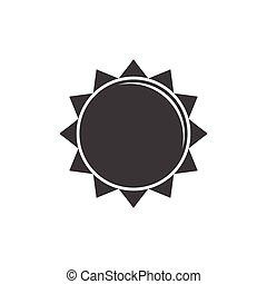 太陽, ベクトル, アイコン